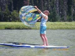 Elder SUP paddle Bend Oregon