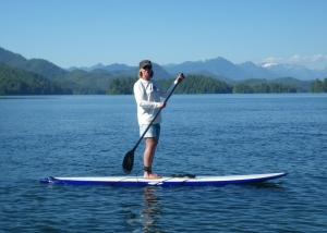 elder sup and eldersup in Clayquot sound vancouver island