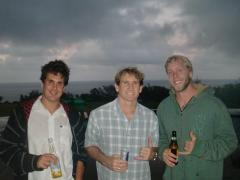Marti'n with Robby Naish and Dave Barral