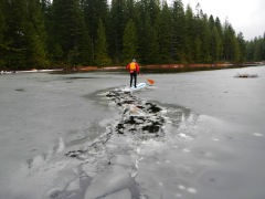 Winter SUP - paddle with a buddy and wear proper clothing (then take in the awesomeness!)