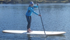 January warm in my Sweet Waterwear paddling top and compression pants
