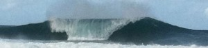 A lucky shot captured with my cell phone in 2012 at Pipeline