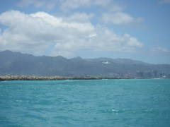 Wide open downwind spaces - heading toward Waikiki