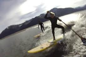 Robby Naish (happy birthday this week) and Kai Lenny in Alaska