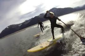 Robby Naish (happy birthday this week) and Kai Lenny in Alaska