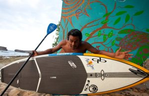 Anthony Vela embraces ocean sports with gusto!