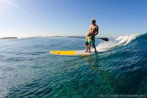 Robby Naish sharing the stroke with his daughter - family fun is a solid part of SUP Perspective