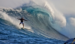 Archie Kalepa surfing Pe'ahi - photo by Damian Antioco