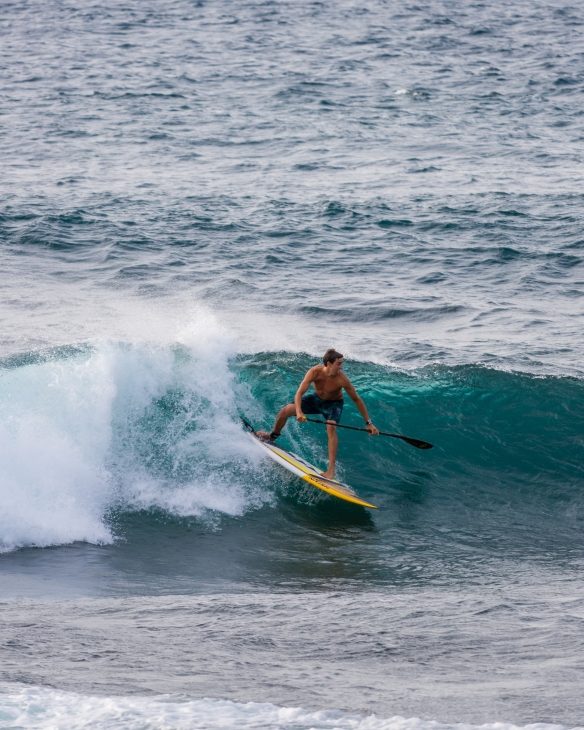 Kody Kerbox dropping in at Ho'okipa