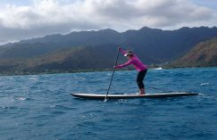 Jeff Chang from the Wet Feet company took Peggy on the Hawaii Kai Run while she was on Oahu last week