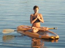 Serenity via SUP Yoga (credit Bowen Island Sea Kayaking)