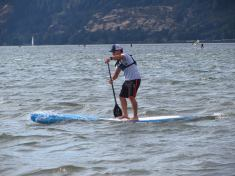 Travis Grant at the Naish Columbia Gorge Paddle Challenge - delivering speed, excitement and a whole lot of fun