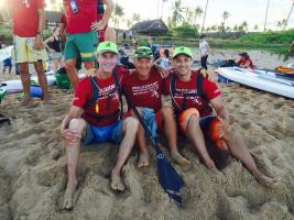 Rob Dies, Gregg Leion and Steve Gates just before the start of M2O